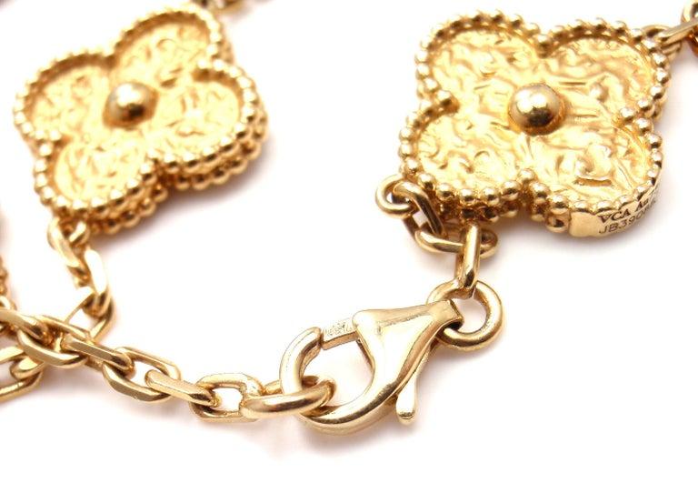 Van Cleef & Arpels Vintage Alhambra Gold 20 Motif Necklace 7