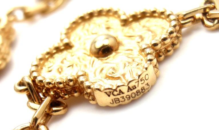Van Cleef & Arpels Vintage Alhambra Gold 20 Motif Necklace 8