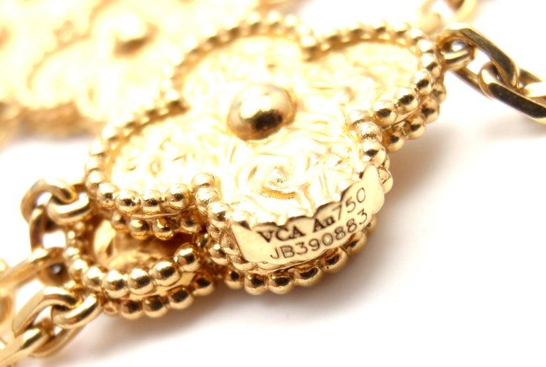 Van Cleef & Arpels Vintage Alhambra Gold 20 Motif Necklace 6
