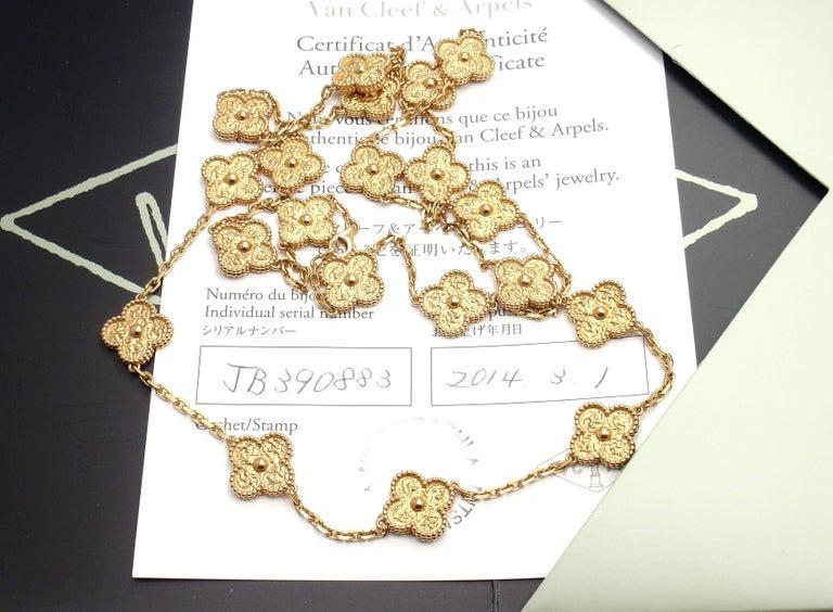 Van Cleef & Arpels Vintage Alhambra Gold 20 Motif Necklace 9