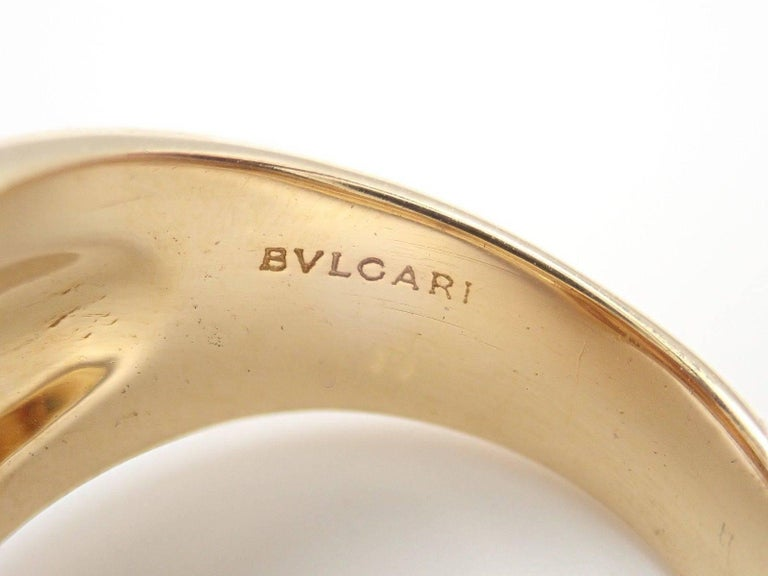 Bulgari Citrine Yellow Gold Ring For Sale 1
