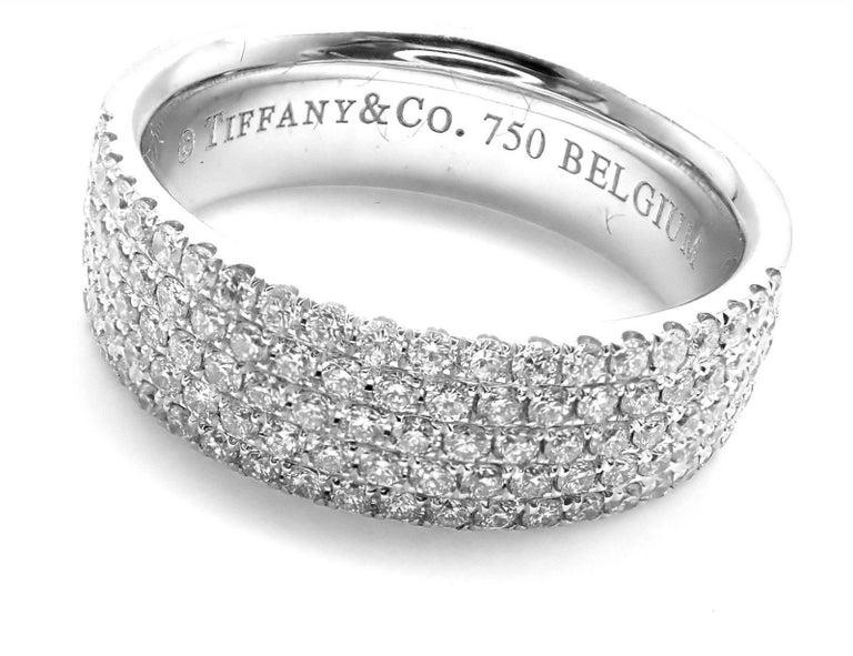 Tiffany And Co Metro Diamond Five Row White Gold Band