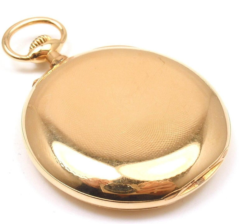 Henry Capt Yellow Gold Chronoautomatic Full Hunter Pocket Watch For Sale 1