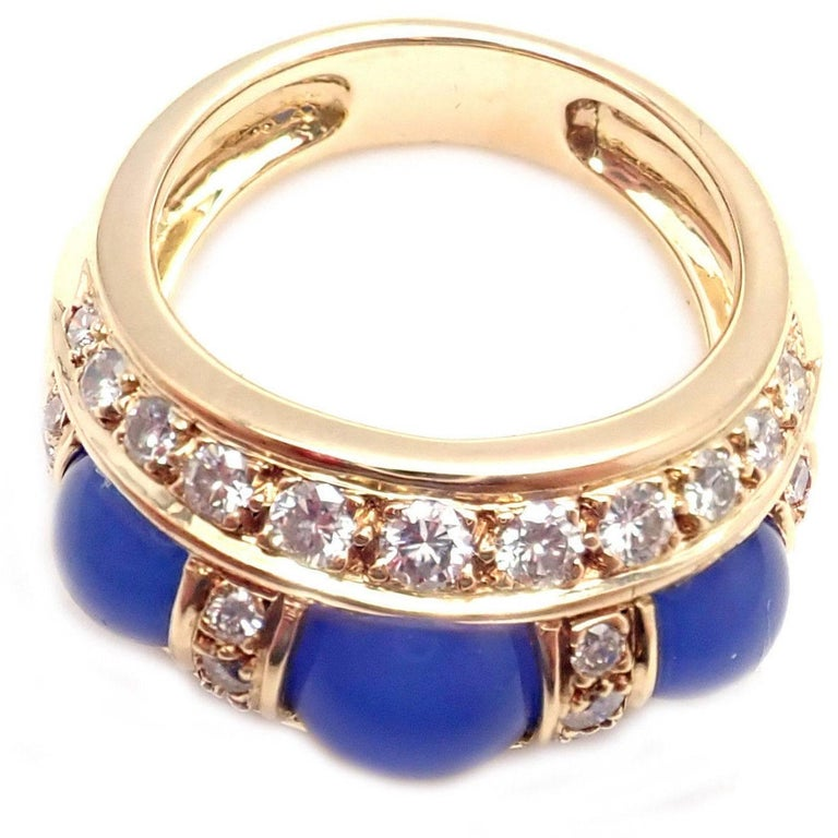Piaget Diamond Chalcedony Yellow Gold Band Ring For Sale 2