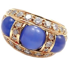 Piaget Diamond Chalcedony Yellow Gold Band Ring