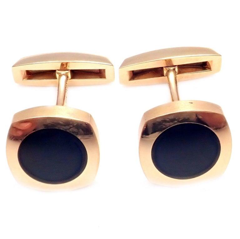 Chaumet Dandy Black Onyx Rose Gold Cufflinks