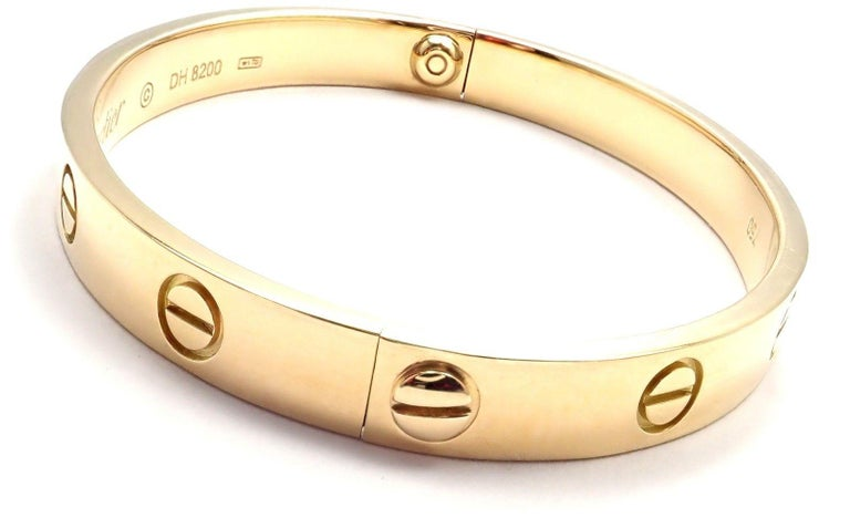 Cartier Love Yellow Gold Bangle Bracelet For Sale 1