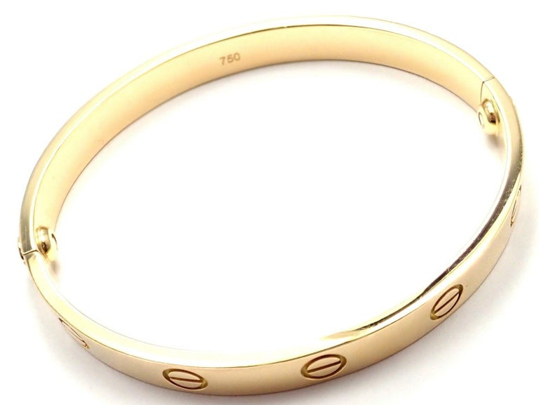 Cartier Love Yellow Gold Bangle Bracelet For Sale 7