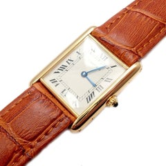 Cartier Tank Unisex Quartz Yellow Gold Watch
