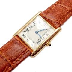 Cartier Tank Unisex Quartz Yellow Gold Watch