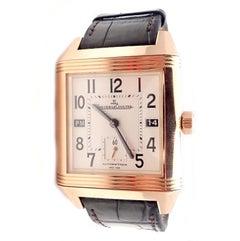 Jaeger Lecoultre Squadra Reverso Hometime Rose Gold Men's Wristwatch 230.2.77