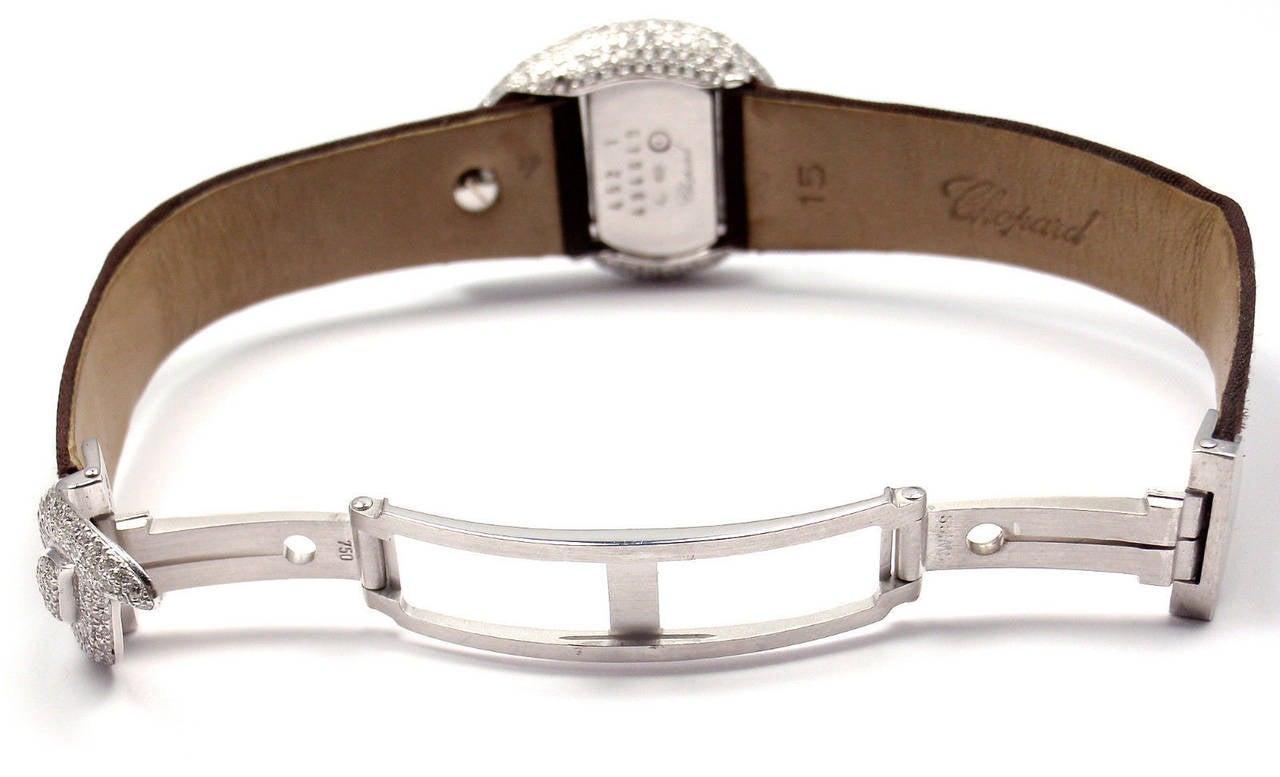 Chopard Lady's White Gold Diamond Pave Casmir Watch 6