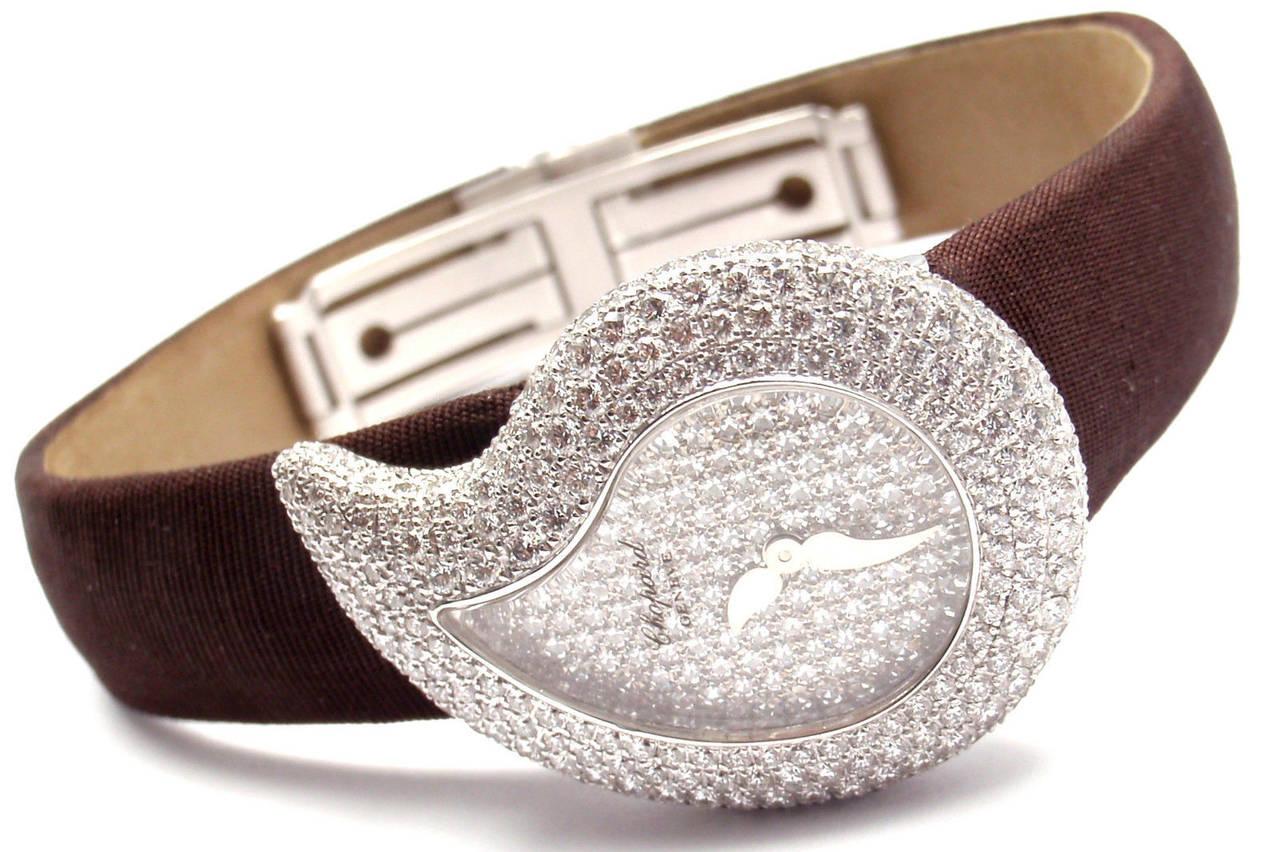 Chopard Lady's White Gold Diamond Pave Casmir Watch 2