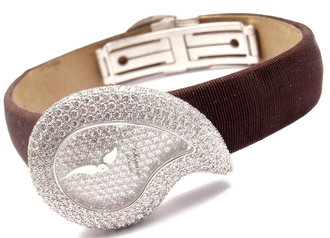 Chopard Lady's White Gold Diamond Pave Casmir Watch 4