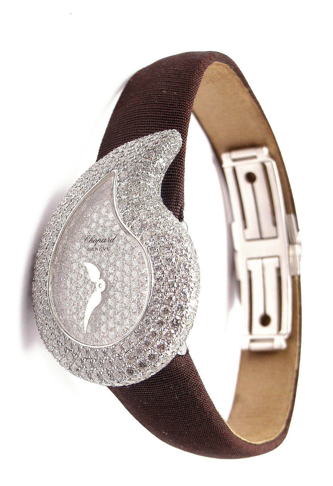 Chopard Lady's White Gold Diamond Pave Casmir Watch 7