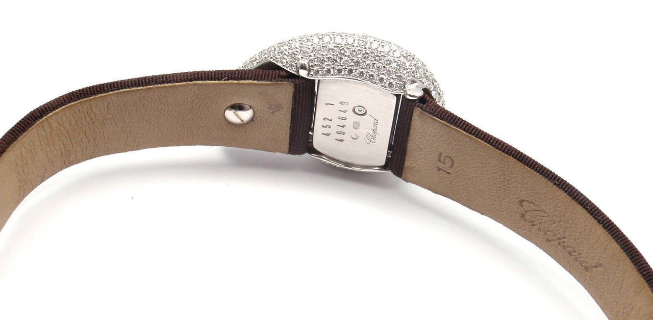 Chopard Lady's White Gold Diamond Pave Casmir Watch 3