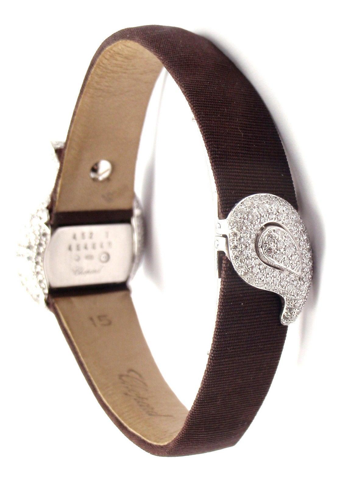 Chopard Lady's White Gold Diamond Pave Casmir Watch 5