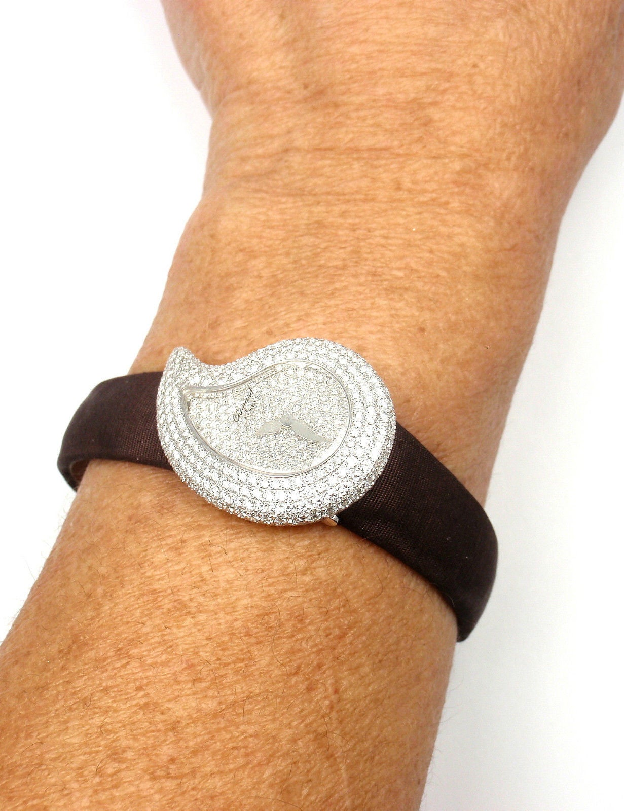 Chopard Lady's White Gold Diamond Pave Casmir Watch 8