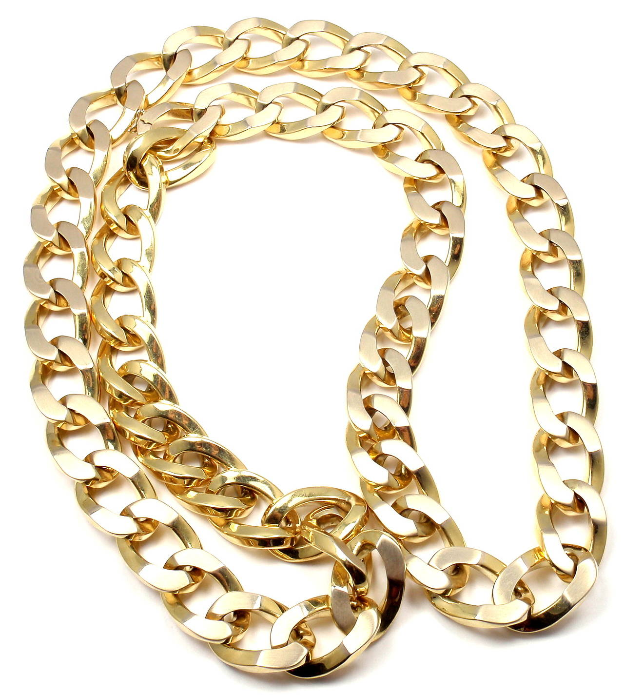 Women's Bulgari Jumbo Curb Link Gold Chain Necklace For Sale