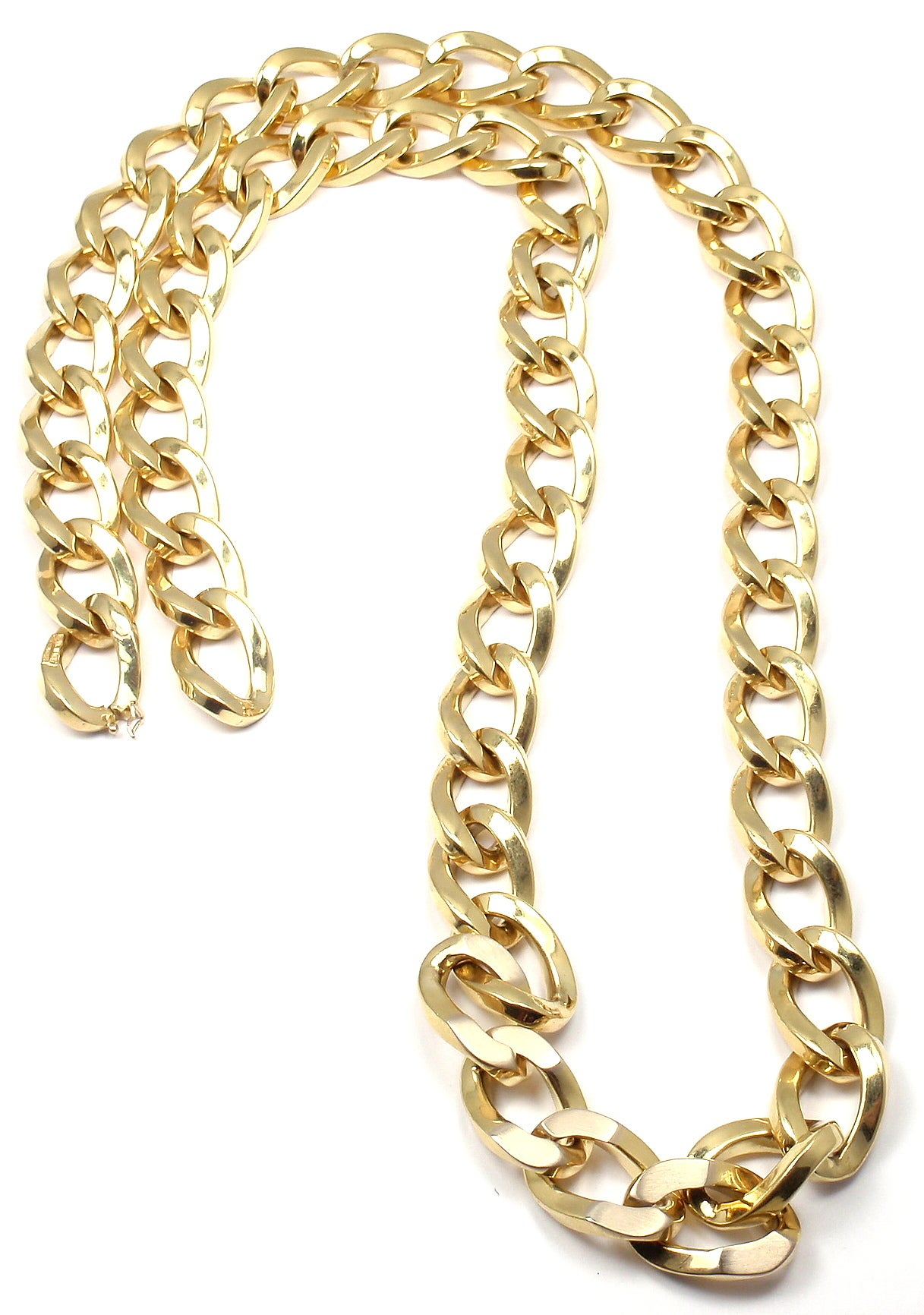 Bulgari Jumbo Curb Link Gold Chain Necklace In As New Condition For Sale In Southampton, PA