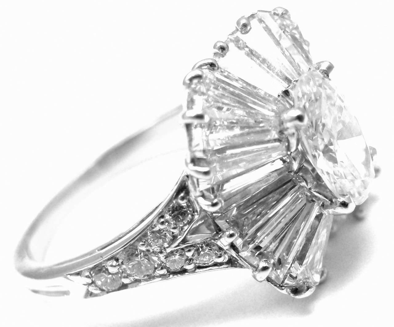 1930s Ballerina Style Engagement Ring Tr04