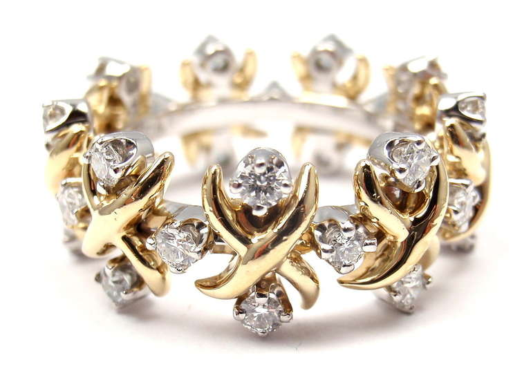 Tiffany And Co Schlumberger Lynn Diamond Gold And Platinum