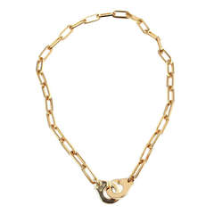Dinh Van Menottes Handcuffs Link Yellow Gold Necklace