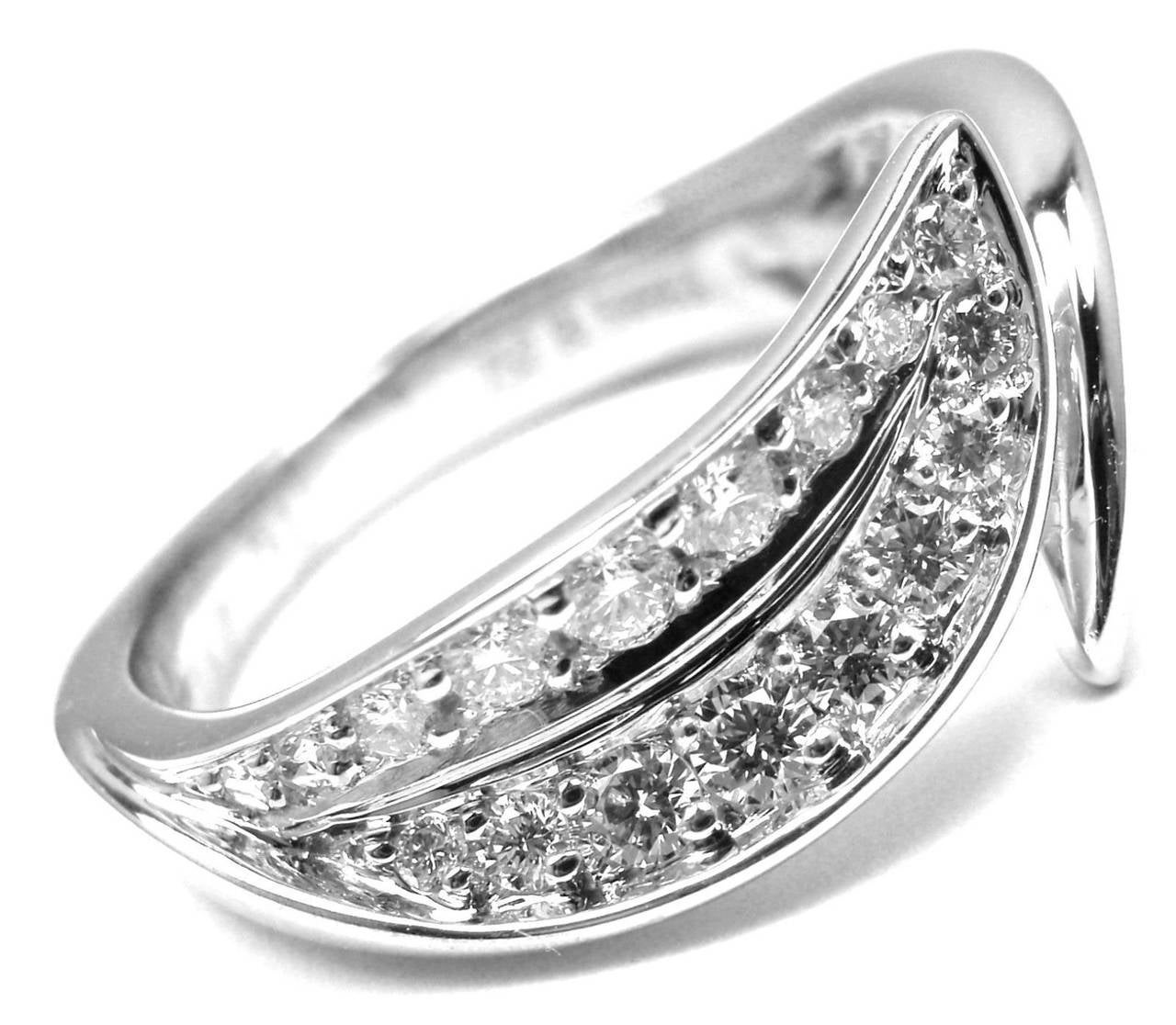 Van Cleef & Arpels Diamond Gold Band Ring For Sale 1