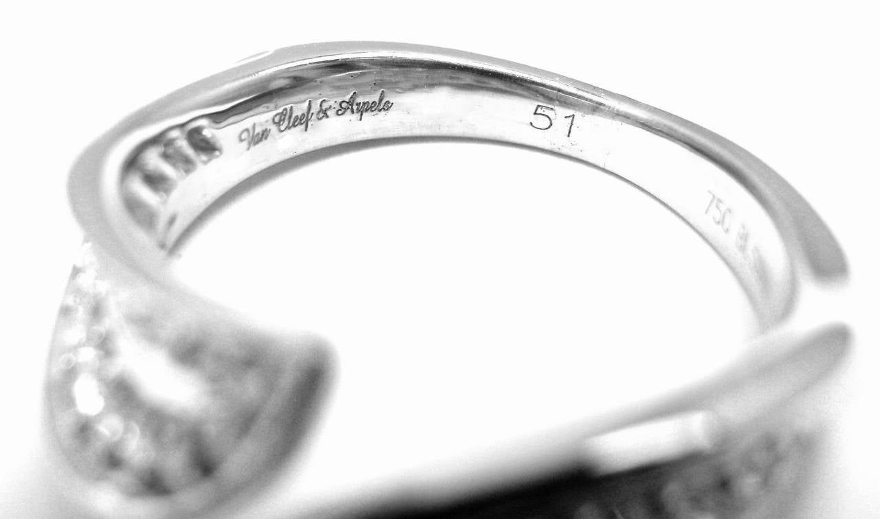 Van Cleef & Arpels Diamond Gold Band Ring For Sale 2