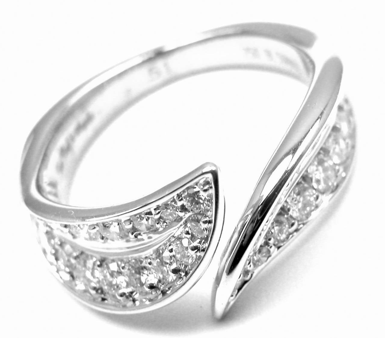 Van Cleef & Arpels Diamond Gold Band Ring For Sale 4