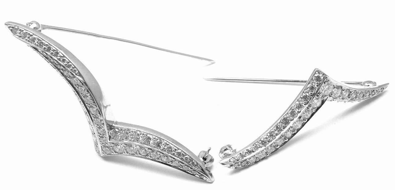 Women's Tiffany & Co. Set of Two Diamond Platinum Seagull Brooch Pins For Sale