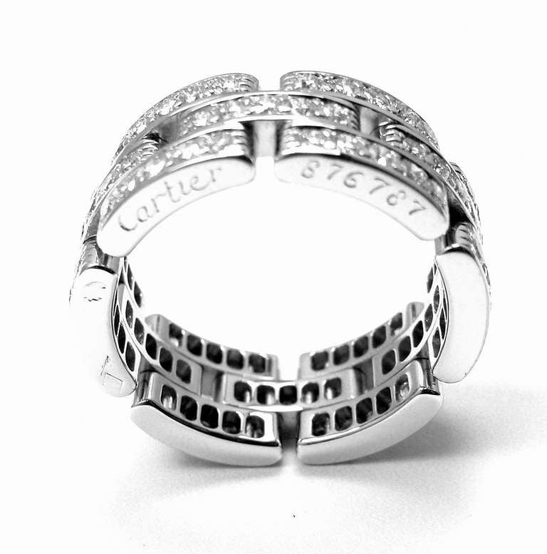 Cartier Infinity Bracelet: CARTIER Maillon Panthere Diamond White Gold Eternity Band