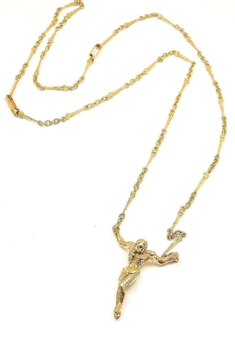 Salvador Dali Small Christ Saint John On The Cross Yellow