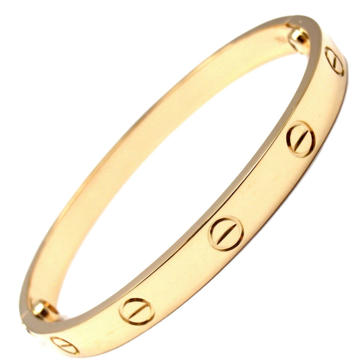 authentic gold love bangles cartier bracelet sz yellow