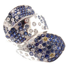 Pasquale Bruni Sapphire Diamond Gold Animalier Snake Ring