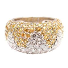 CHOPARD Diamond Sapphire Wave White Gold Ring