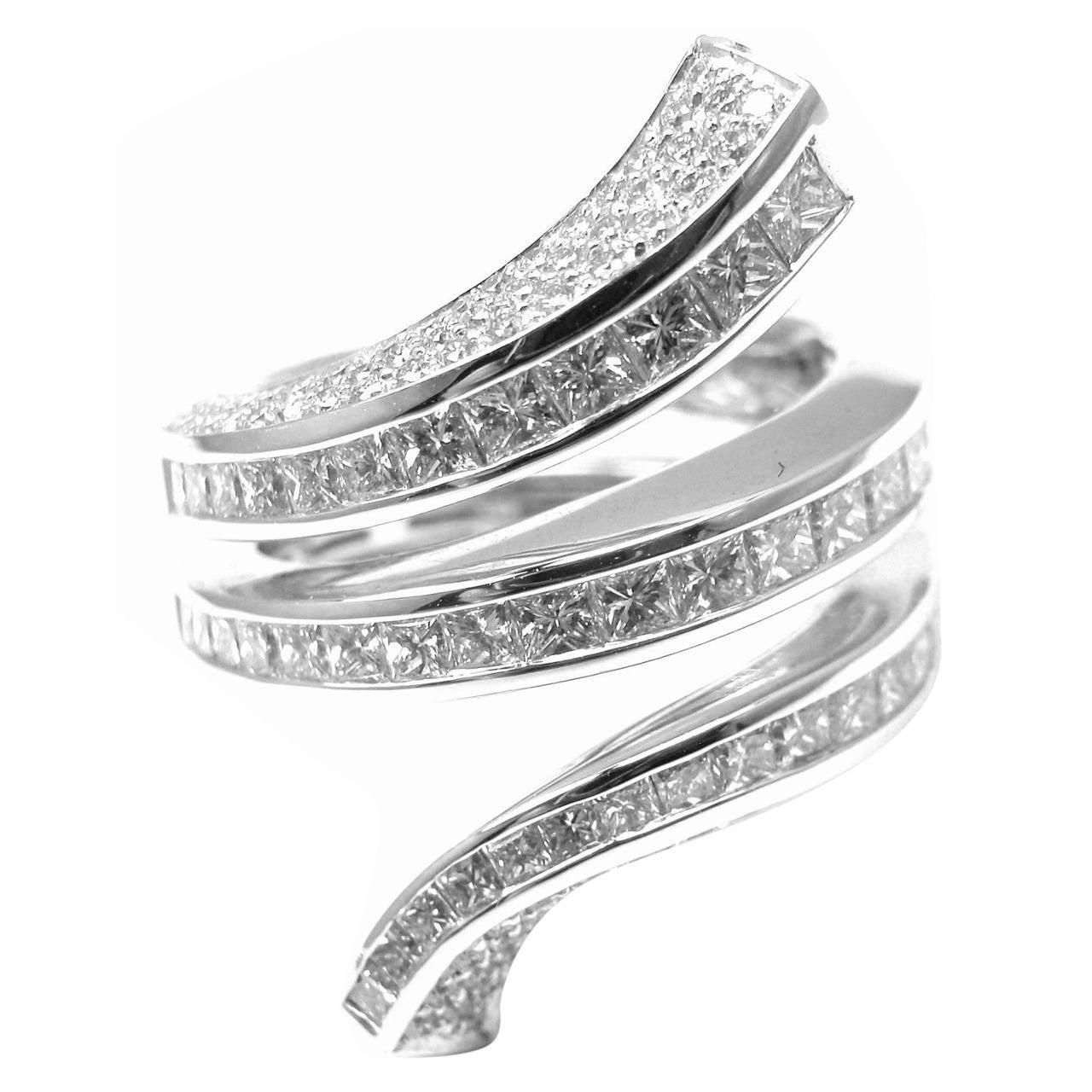 Damiani Large Diamond Gold Cocktail Ring