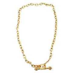 ELIZABETH LOCKE Toggle Link Yellow Gold Necklace
