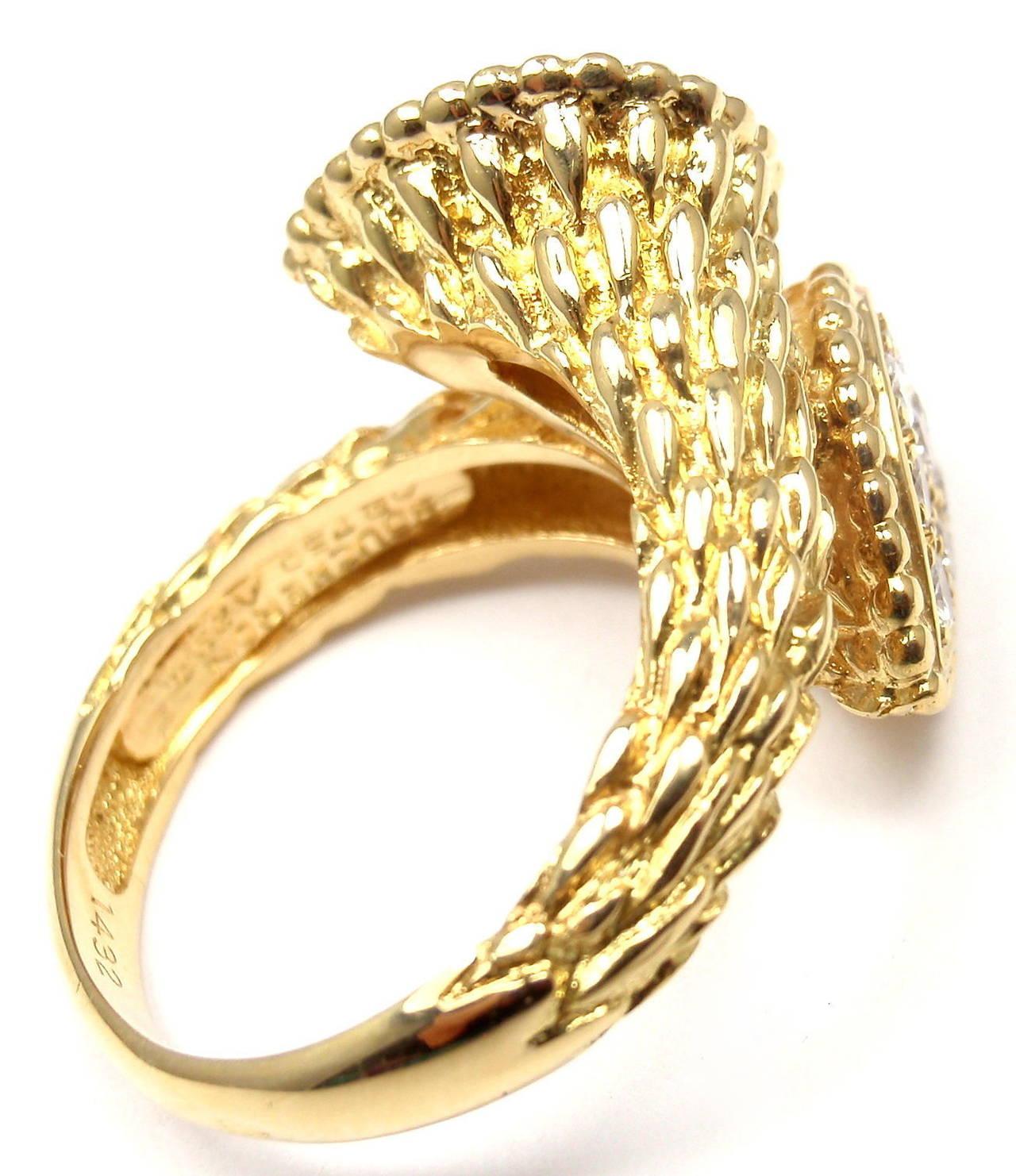 Boucheron Serpent Bohème Toi et Moi Diamond Gold Ring at 1stdibs