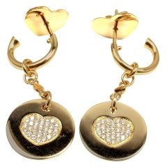 Pasquale Bruni Amore Diamond Gold Drop Earrings