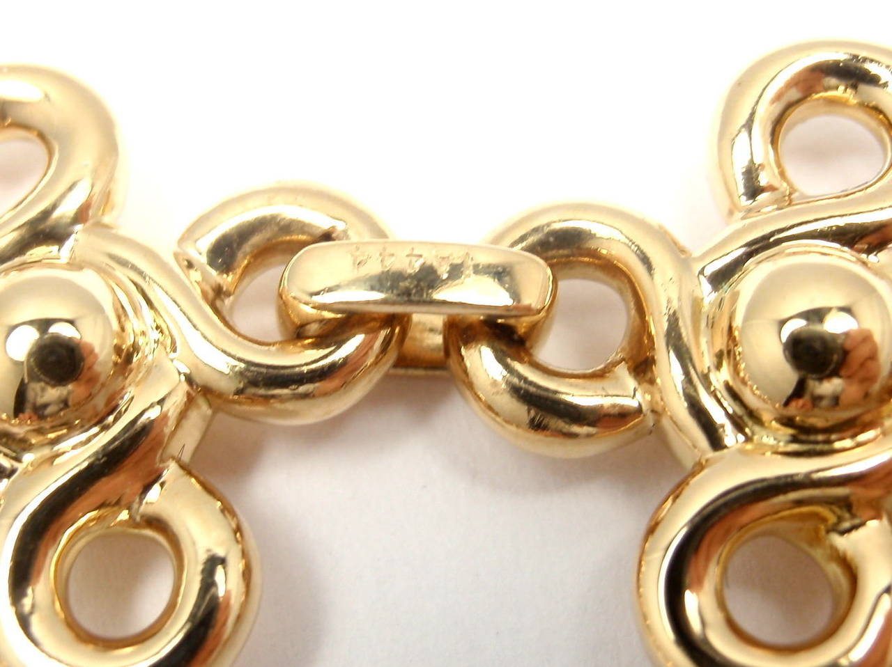 Women's Chanel Diamond Gold Link Bracelet For Sale