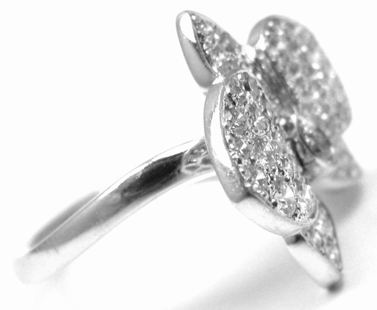 Cartier Caresse Dorchides Orchid Flower Diamond Gold Cocktail Ring