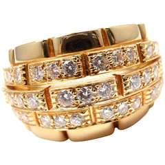 CARTIER Oriane Diamond Yellow Gold Band Ring