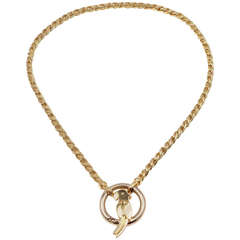 Pomellato Parrot Yellow and White Gold Necklace