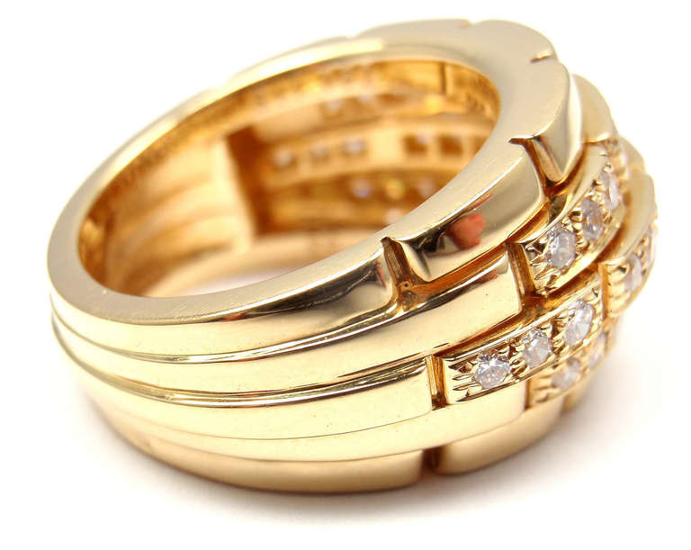 CARTIER Oriane Diamond Yellow Gold Band Ring 3