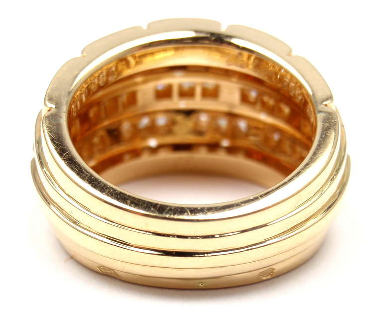 CARTIER Oriane Diamond Yellow Gold Band Ring 4