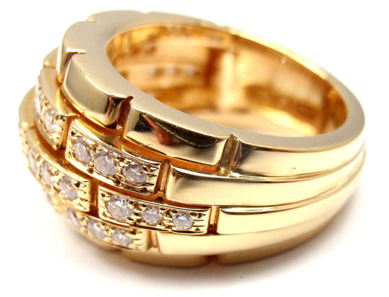 CARTIER Oriane Diamond Yellow Gold Band Ring 5