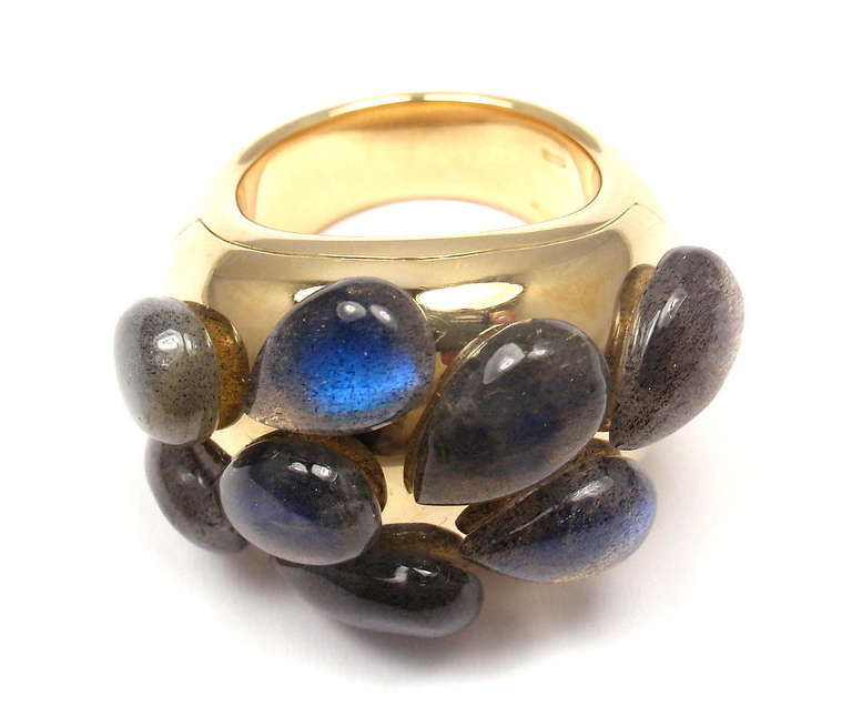 POMELLATO Moonstone Yellow Gold Ring For Sale 2