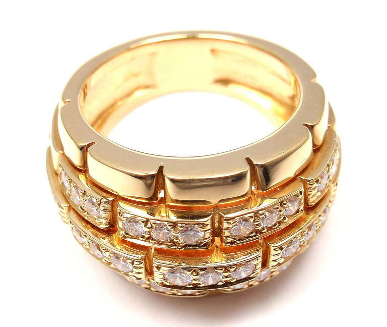 CARTIER Oriane Diamond Yellow Gold Band Ring 6