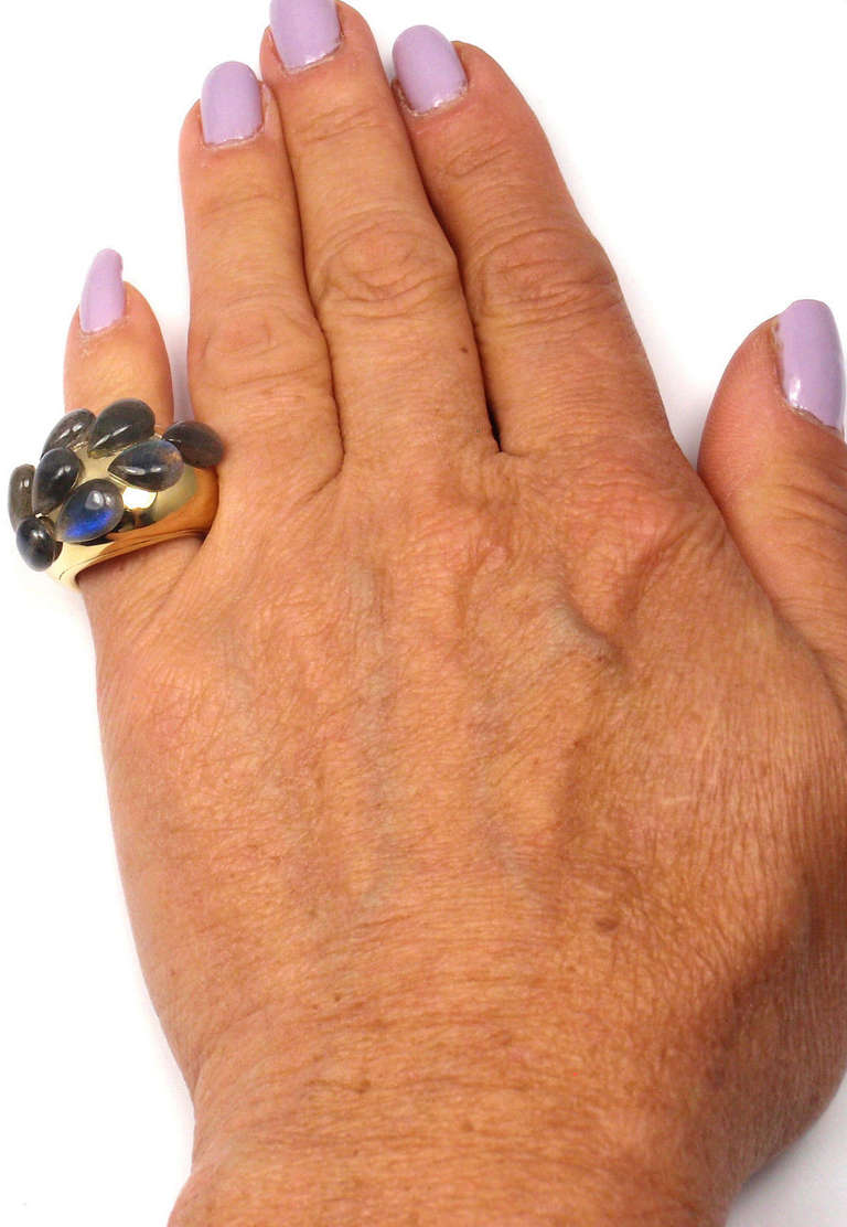 POMELLATO Moonstone Yellow Gold Ring For Sale 3